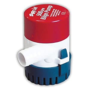 Rule Submersible Bilge Pump, 500 GPH
