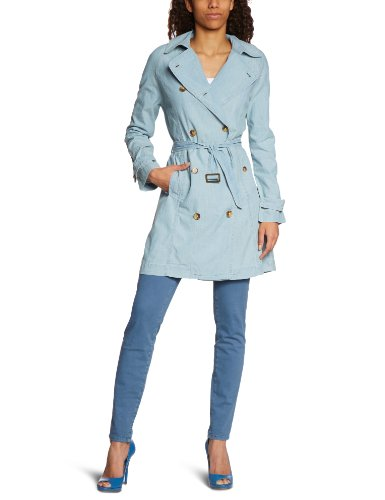 Levi's Damen Trench Coat Levi's TRENCH 70671, Gr. 38 (L), Weiß (CRUNCH BLEACH 0002)