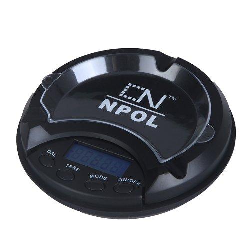 500g / 0.1g Cendrier de poche écran LCD avec rétro-éclairage bleu Balance électronique numérique pour peser bijoux, or, argent, diamant, thé, aliments, etc