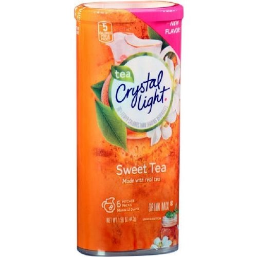 Crystal Light Sweet Tea, 12-Quart 1.56-Ounce Canister (Pack Of 10)