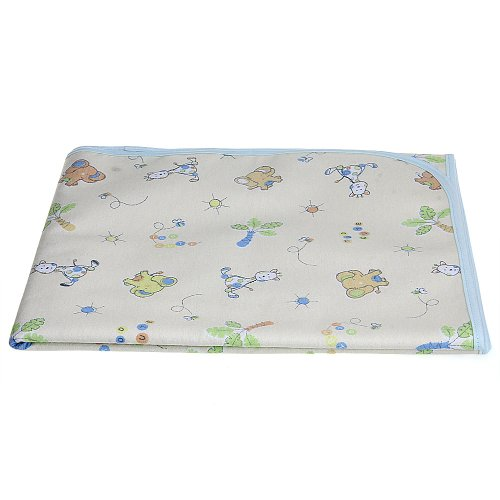 Baby Infant Cover Waterproof Urine Pad Changing Mat Underpad Blue L front-177542