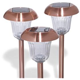 Strathwood Path Lights, Copper, Set of 10