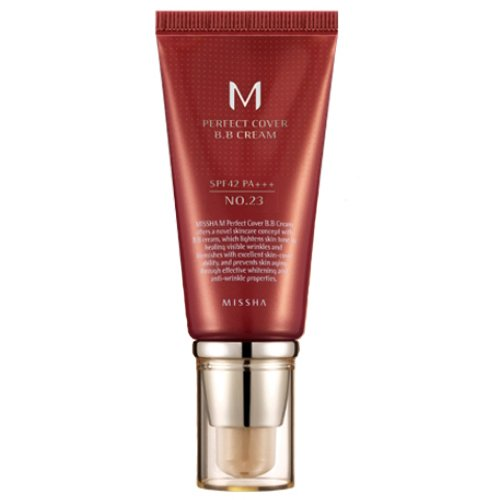 Missha M Perfect Cover B.B. Cream SPF 42 PA+++ 23 Natural Beige, 1.69oz