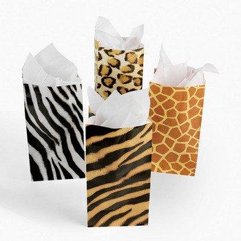 Animal Print Gift Bags (1 dz)