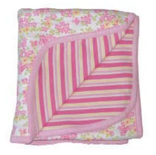 Under the Nile Organic Cotton Receiving Blanket - Butterfly Flower - 1