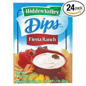 Hidden Valley Dip Mix, Fiesta Ranch Dip, 1.1-Ounce Packets (Pack of 24)