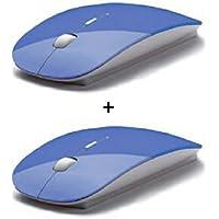 DIZIBLUE M100 Pack Of 2 Ultra Slim Wireless Mouse 2.4ghz Nano Receiver For Pc Laptops Windows Mac - B01L53CHEW