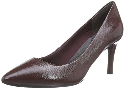 Rockport TM75MMPTH PLAIN PUMP, Decolleté chiuse donna, Rosso (Rot (VINO LINEN PATENT)), 40