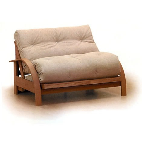 Jersey Express Futon - Sofa Bed - Armless 2 Seater - Wood - Small Double - Natural standard