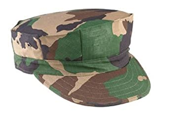 Woodland Camouflage Marine Corps Fatigue Cap 5633 Size X-Small