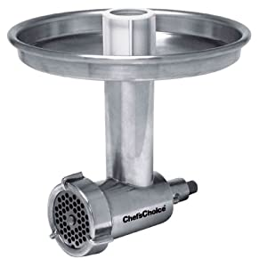 Chef's Choice Professional Meat Grinder Attachment for Kitchen Aid No.799 with 3 Grinding Plate Attachments