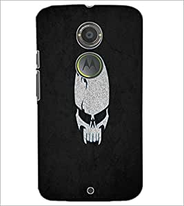 PrintDhaba Skull D-2217 Back Case Cover for MOTOROLA MOTO X2 (Multi-Coloured)