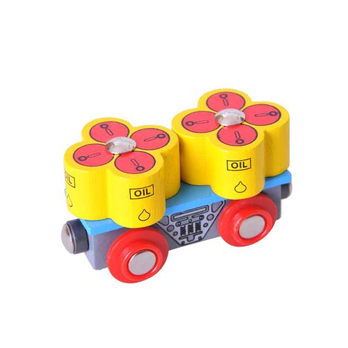 Bigjigs Rail BJT405 Oil Barrel Wagon
