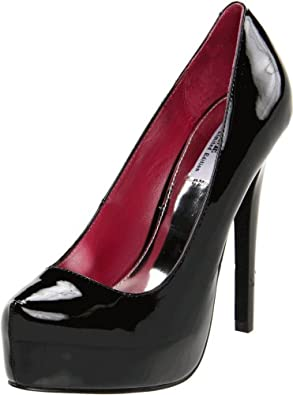 MIA Limited Edition Women's Vixen Platform Pump,Black Patent,7 M US