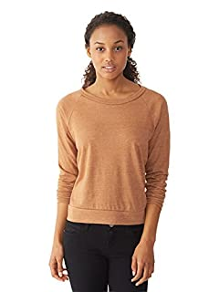 Alternative Womens Slouchy Eco-Jersey Pullover Small Eco True Rust