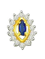 Surat Diamond 18K Yellow Gold Diamond Pendant - B00NGT08HW