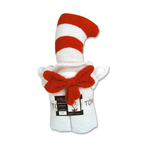 Trend Lab Dr Seuss Hooded Towel, Cat in the Hat