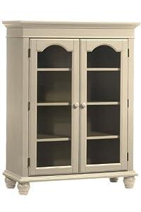 ... Four shelf Bookcase With Glass Doors, FOUR-SHELF, ANTIQUE WHITE