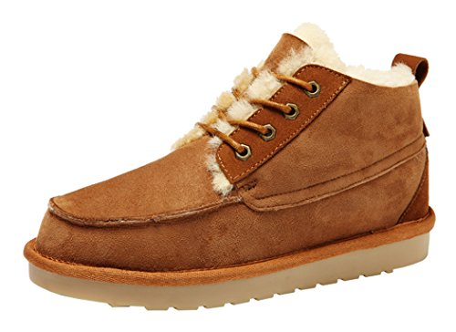 Rock Me Men's Integr II Winter Fur Low Top Snow Boot(9 D(M) US, Chestnut)