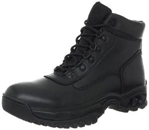 Ridge Outdoors Mid Side Zip Duty Military Uniform Work Duty Boots Men'S Police Motorcycle All Leather Waterproof, Medium, 10.5M from Ridge