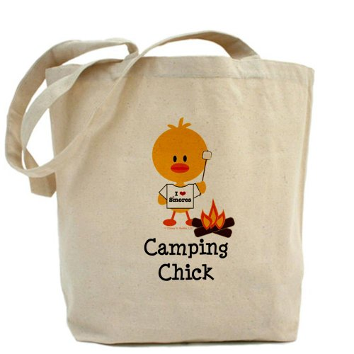 Fun And Unique Mother's Day Gift Idea Guide For Camping Moms - CafePress Unique Design Camping Chick Tote Bag - Standard Multi-color