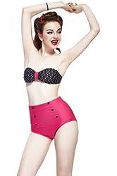 Ninimour- Cutest Retro Swimsuit Swimwear Vintage Push up High Waist