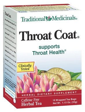 Organic Herbal Tea Throat Coat 16 pckts