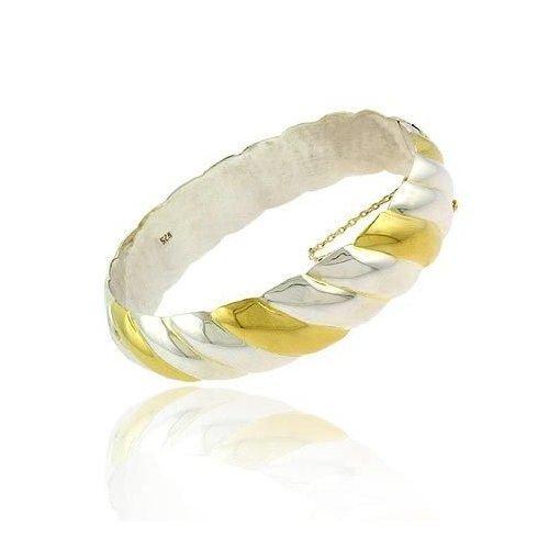 Vermeil (24k Gold over Sterling Silver) & Silver San Marco Design Bangle