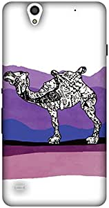 The Racoon Grip printed designer hard back mobile phone case cover for Sony Xperia C4. (Camel Stor)