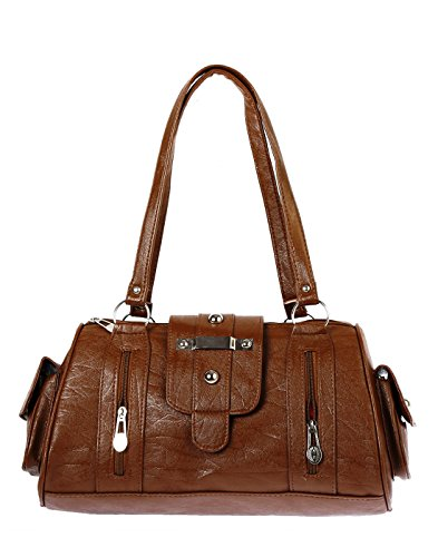 Bagizaa Women's Handbag (Brown,Mest5227)