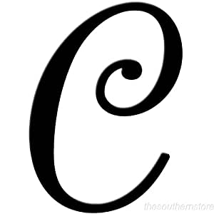 The Letter C In Fancy Writing Alphabet