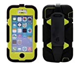 Griffin Survivor Military Duty Case and Belt Clip for Apple iPhone 5c (Black/Citron)