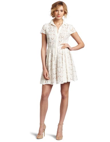 BCBGMAXAZRIA Women's Kiran Full Skirt Shirt Dress