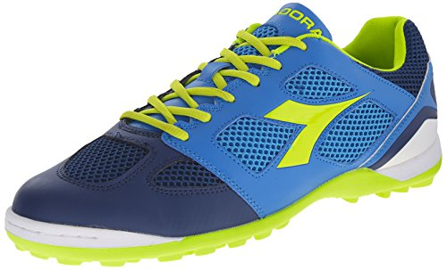 Diadora Men's Quinto 5 Soccer Turf Shoe, Navy/Royal, 10 M US