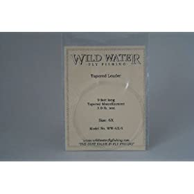 Wild Water Fly Fishing Tapered Leader-6X