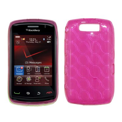 Hot Pink Gel Skin Cover Ultra Guard Thermoplastic Case for BlackBerry Storm 2 (9550 / 9520)