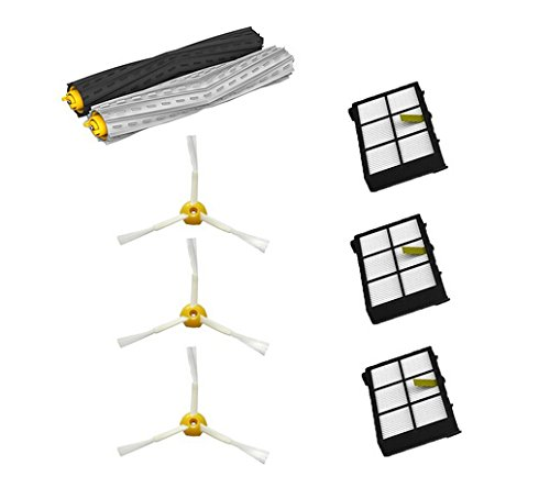 Cimc Llc Tangle-Free Debris Extractor Set & 3 Side Brushes & 3 Hepa Filters Replacement For Irobot Roomba 800 Series 870 880 front-580915