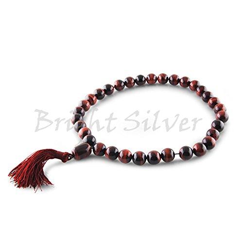 Genuine 13mm Tibetan Buddhist Red Tiger Eye Prayer Beads Wrist Meditation