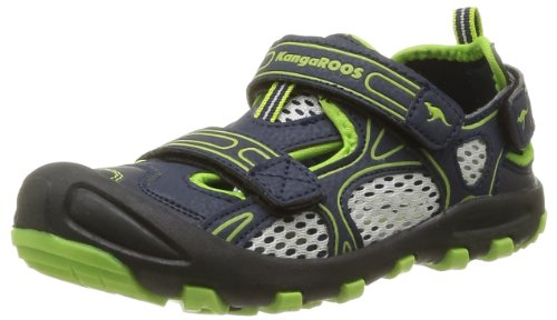 Kangaroos Baby Boys' Balou First Walking Shoes Blue Bleu (481 Dk Navy Lime) 32