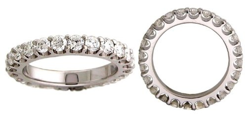 4.00 CT ROUND DIAMOND WEDDING ETERNITY BAND