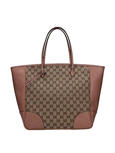 Borse a Mano Gucci Donna Tessuto Rosa Antico e Beige 323671KH1BG8866 16x30x30 cmEU