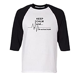 Keep calm Ok Not that calm Raglan Baseball T-Shirt
