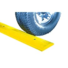 "SloMo SB4D-Y Recycled Plastic Deluxe 4' Speed Bump without Hardware, Yellow, 48"" Length, 12"" Width, 2.25"" Height"