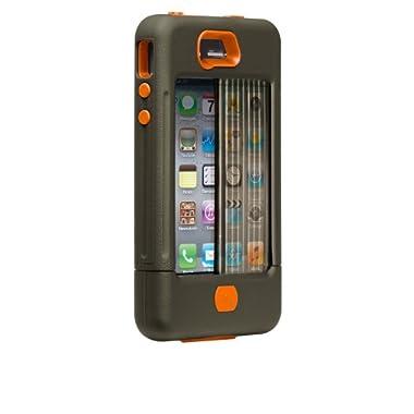 【軍用グレードの最強保護】Case-Mate iPhone 4S / 4 Tank Case with Clip Holster, Military Green/Orange タンク ケース, ミリタリー・グリーン/オレンジ (クリップホルスターつき) CM016802 【米軍MIL規格標準準拠製品】