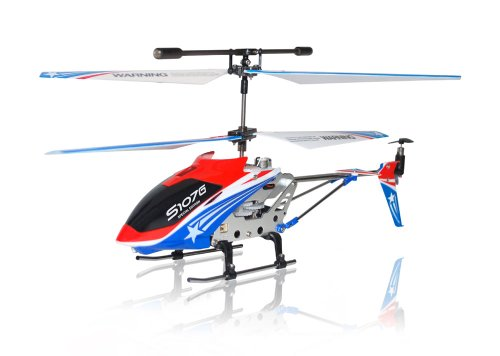 New Genuine 2012 Syma S107G Special Edition American Flag Colors Theme 3CH Gyro RC Helicopter With AC Charger