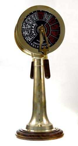 Brass Chadburn Nautical Telegraph Machine: Ship Engine Telegraphs