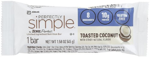 Zone Perfect Simple Toasted Coconut Nutrition Bar -- 12 per case. tropicana cold press coconut oil 100