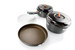 GSI Outdoors Pinnacle Base Camper-Small 2-Person Cookset by GSI