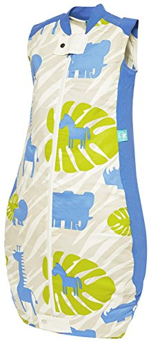 ergoPouch TRU 3.5 TOG Organic Cotton Quilt Sleeping Bag, Blue Jungle, 12-36M - 1