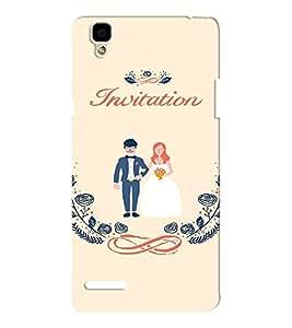 EPICCASE Getting married Mobile Back Case Cover For Oppo F1 (Designer Case)